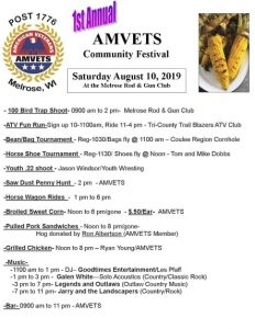1st Annual AMVETS Community Festival @ Melrose Rod & Gun Club