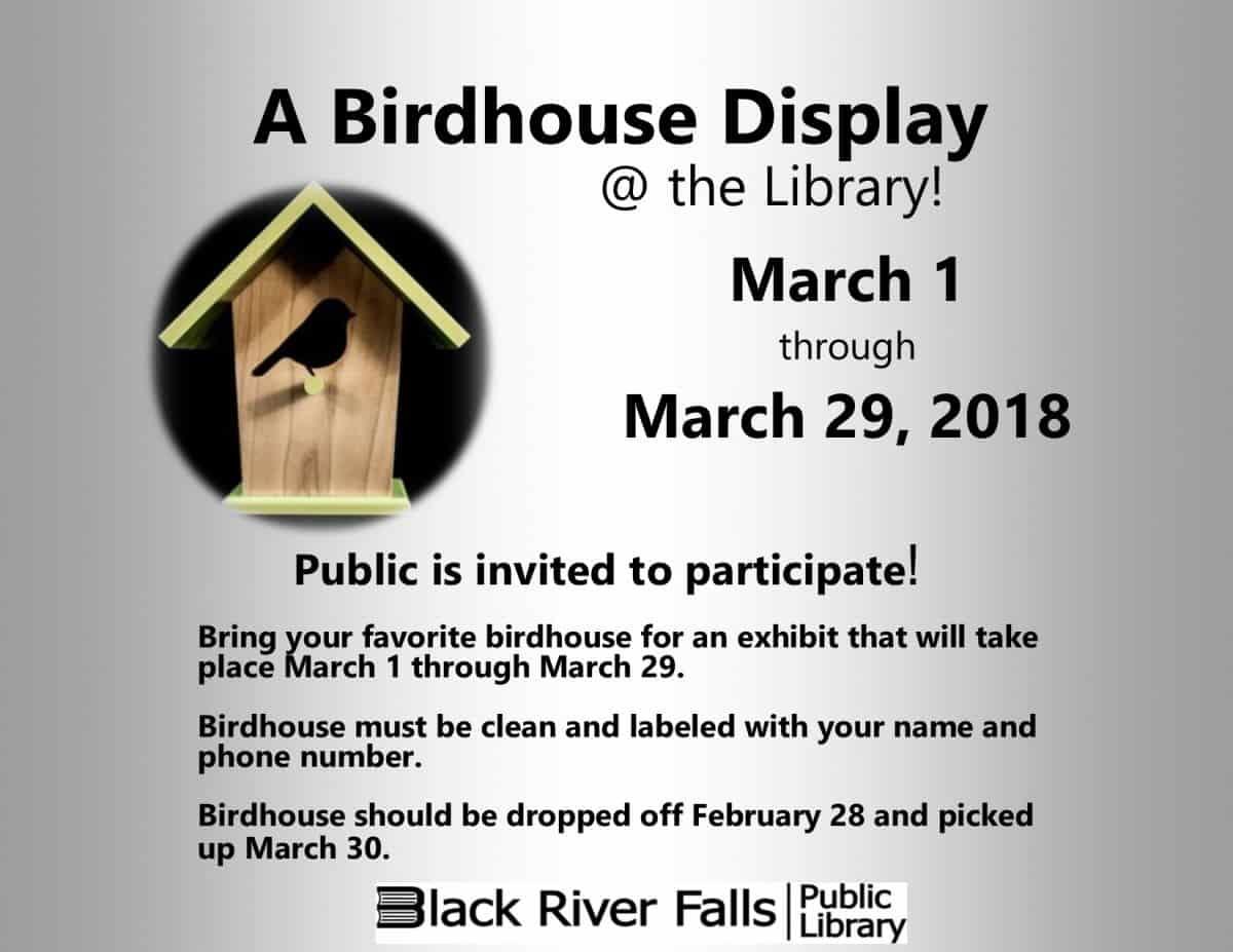 A Bird House Display @ Black River Falls Public Library