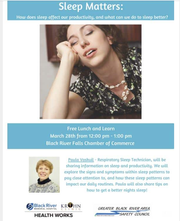 Sleep Matters- Lunch & Learn @ Black River Area Chamber of Commerce | Black River Falls | Wisconsin | United States