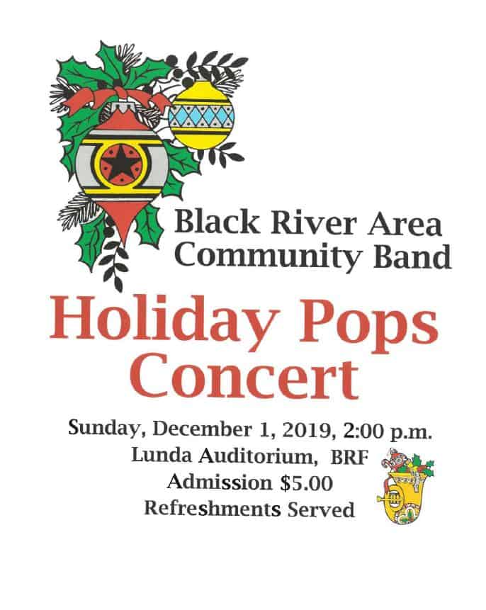 Black River Area Community Band Holiday Pops Concert @ Black River Falls Lunda Theatre