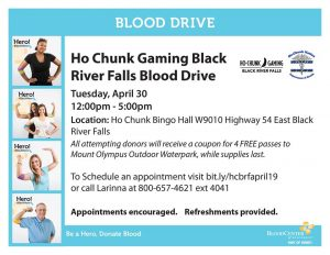 Blood Drive @ Ho Chunk Gaming BRF