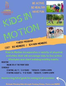 Kids in Motion @ Lunda Community Center