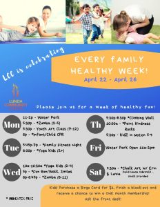 Every Kid Health Week at LCC @ Lunda Community Center