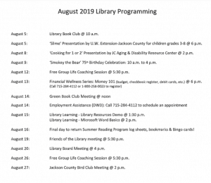 Library Board Meeting @ Black River Falls Public Library