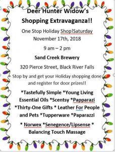 Deer Hunter Widow's Shopping Extravaganza! @ Sand Creek Brewing