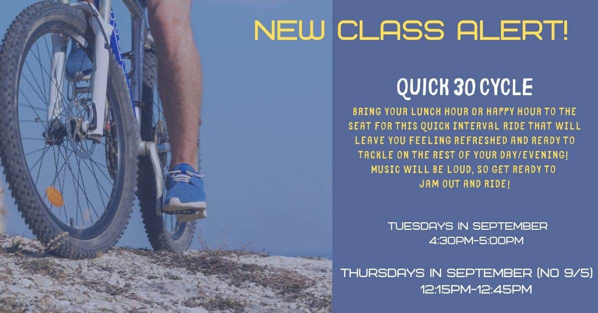 Quick 30 Cycle (New class at LCC) @ Lunda Community Center