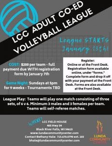 Adult Co-Ed Volleyball League
